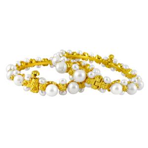 Pearl Bangles-Jpearls Soft Pearl Bangles