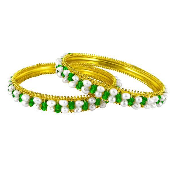 Pearl Bangles-Jpearls Go-Green Pearl Bangles
