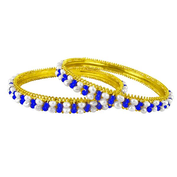 Jpearls Blue Pearl Bangles