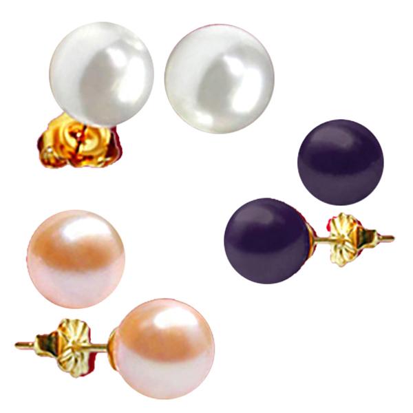 Pearl Earrings-Jpearls Multi Pearl Studs