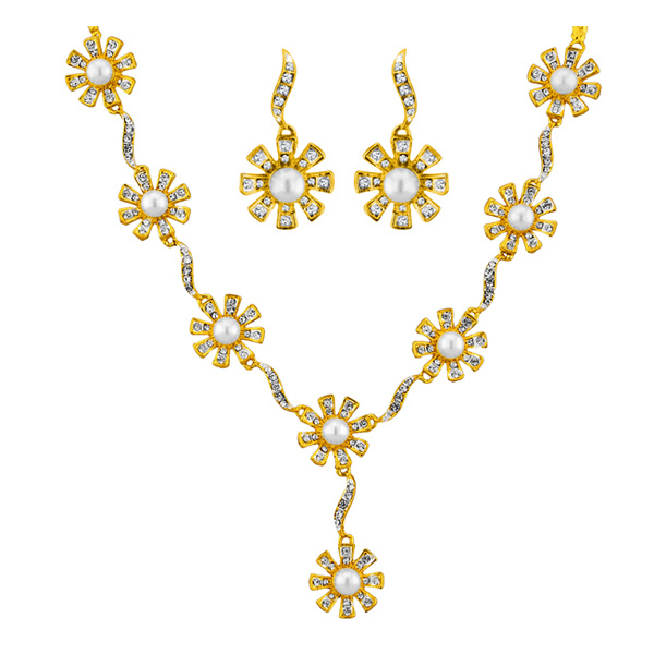 Jpearls Flora Pearl Necklace Set
