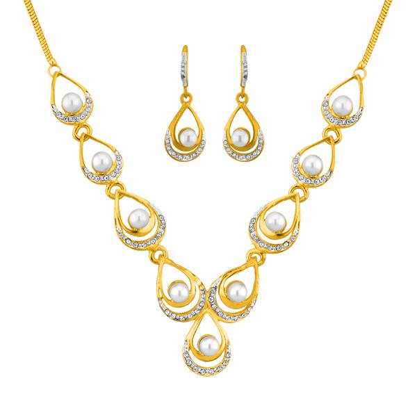 Jpearls Designer Fashion Pearl Necklace Set