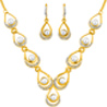Jpearls Designer Fashion Pearl Necklace Set