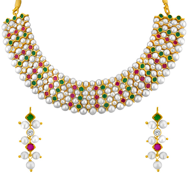 Jpearls Colourful Gracious Necklace Set