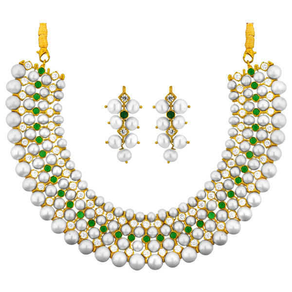 Jpearls Classic Pearl Necklace Set