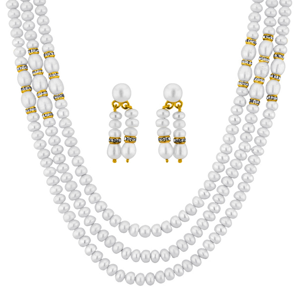 Jpearls Enchanting 3 Line Necklace Set
