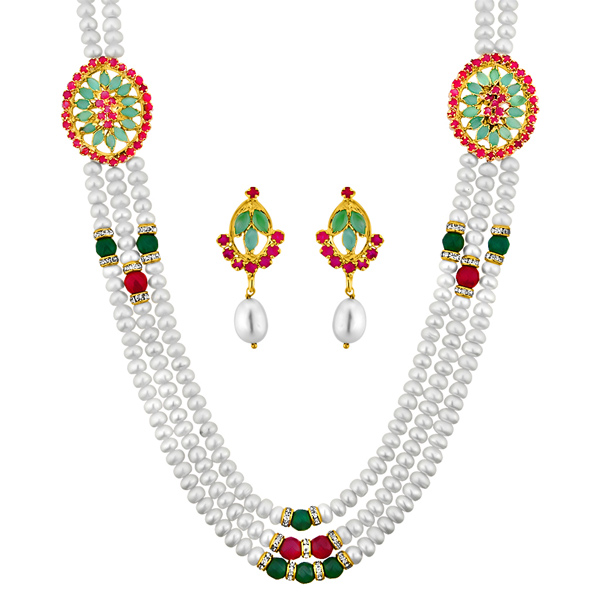 Jpearls Trendy Pearl Necklace Set