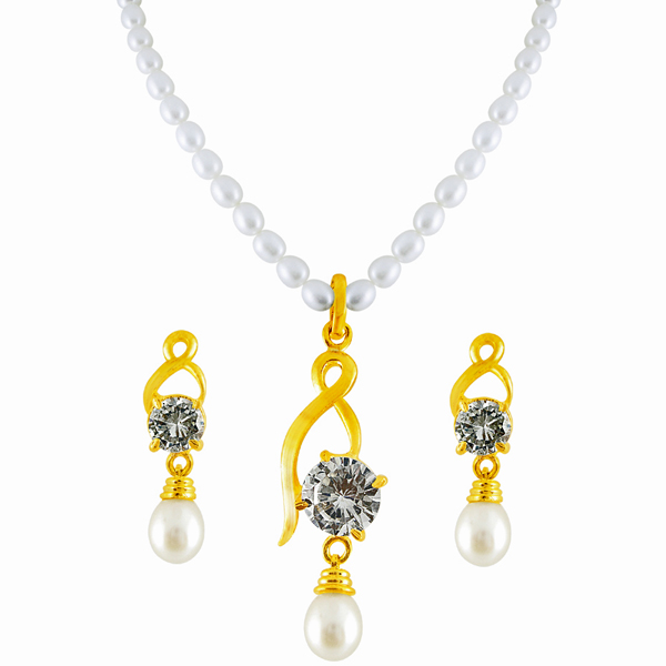 Jpearls Treasury Pearl Pendant Set