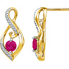 Jpearls 925 Sterling Silver Eva Diamond Earrings