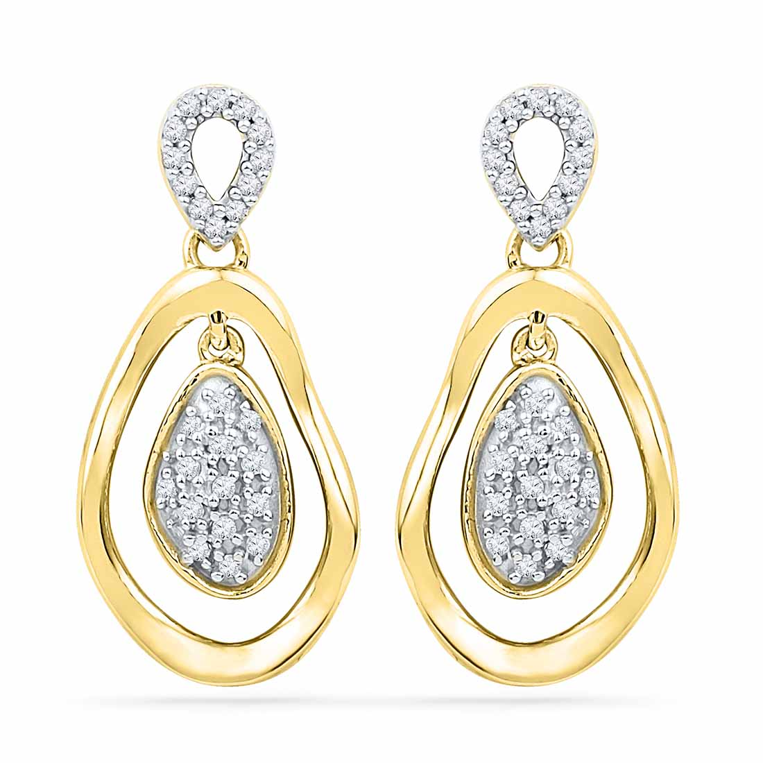 18 Kt Gold Valentines day Special Zimaa Diamond Earrings