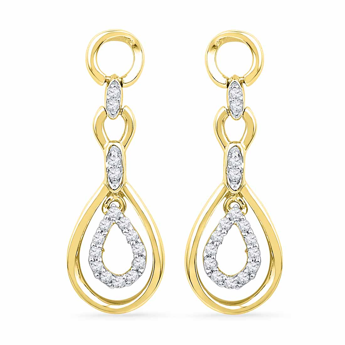 18 Kt Gold Valentine? Day Special Enchanting Diamond Earrings