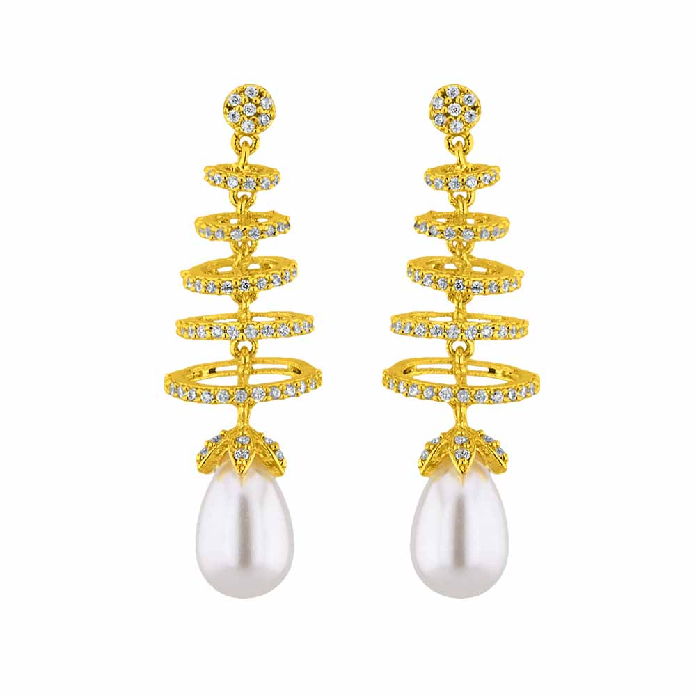 Jagdamba Pearls Splendid Pearl Earrings