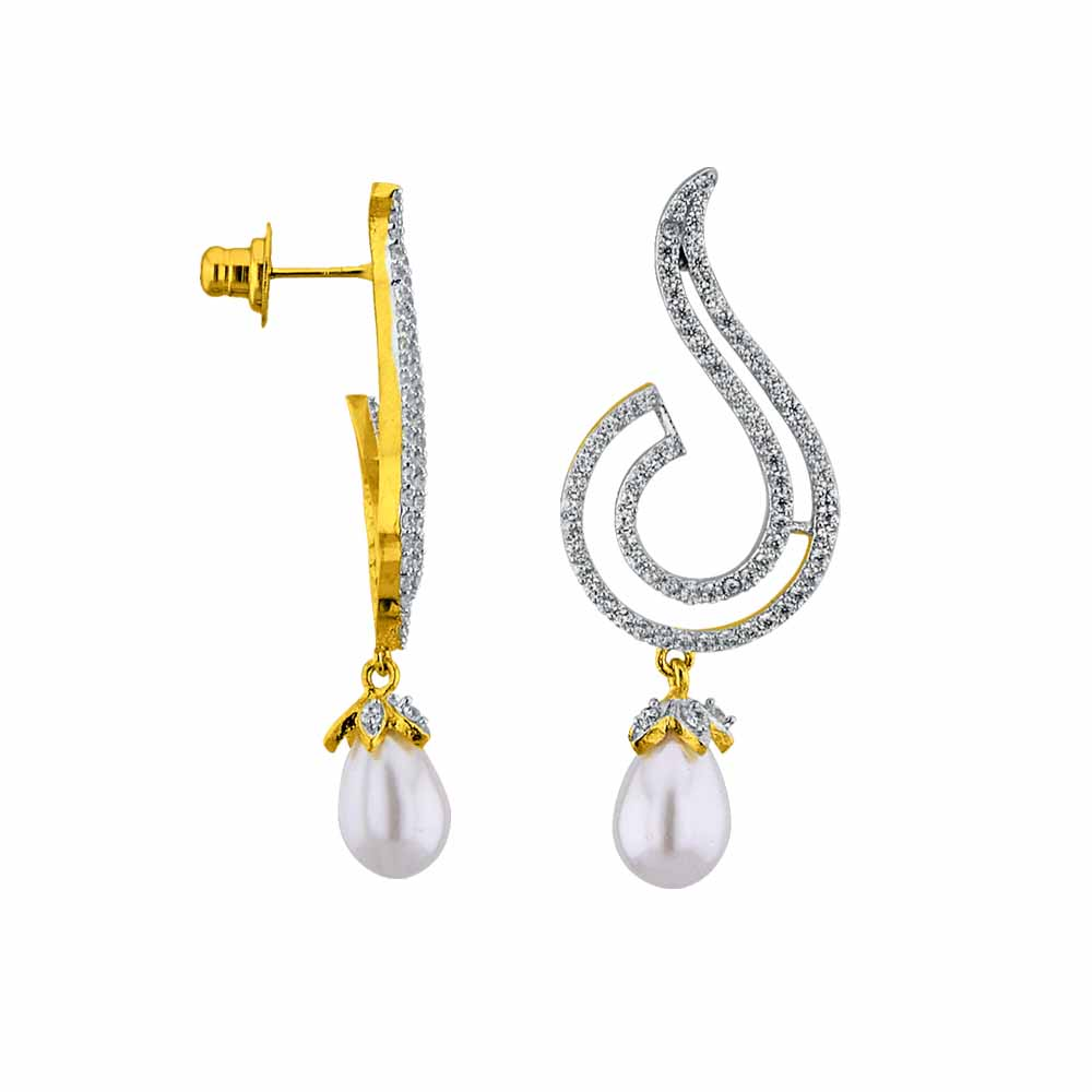 Jagdamba Pearls Vivid pearl Drop Earrings