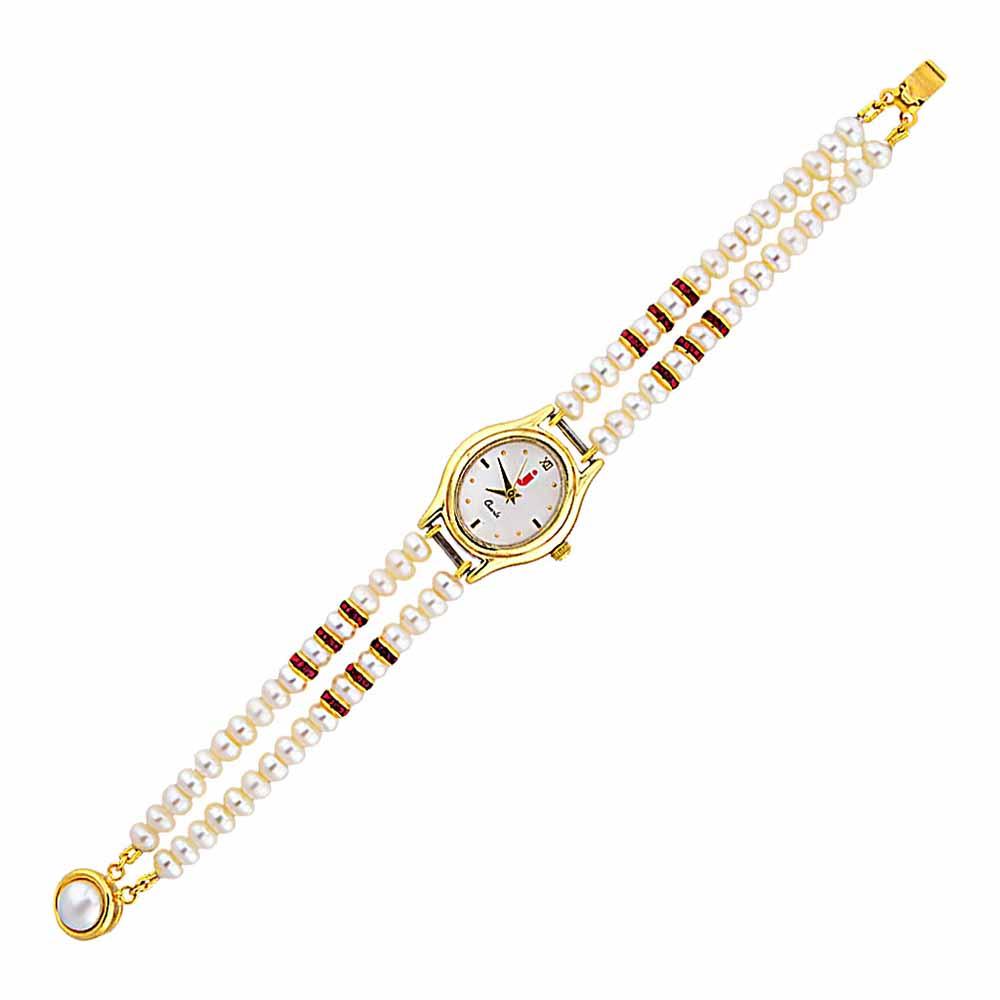 Jagdamba Pearls Awe-inspiring Pearl Watch