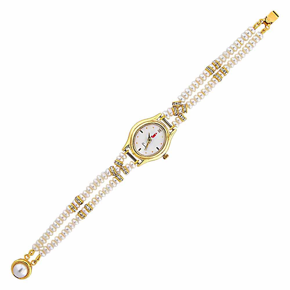 Jagdamba Pearls Overwhelming Pearl Watch
