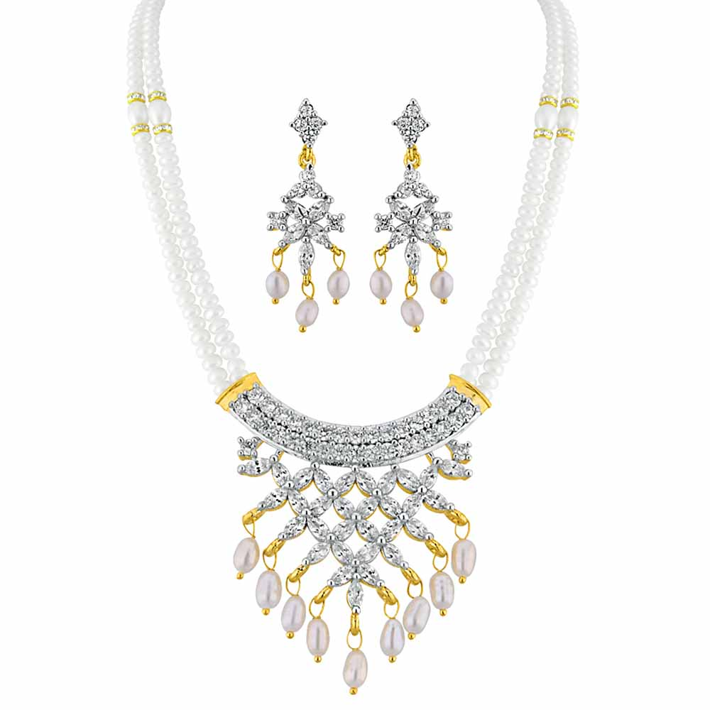 Jagdamba Pearls Astounding Pearl Necklace Set