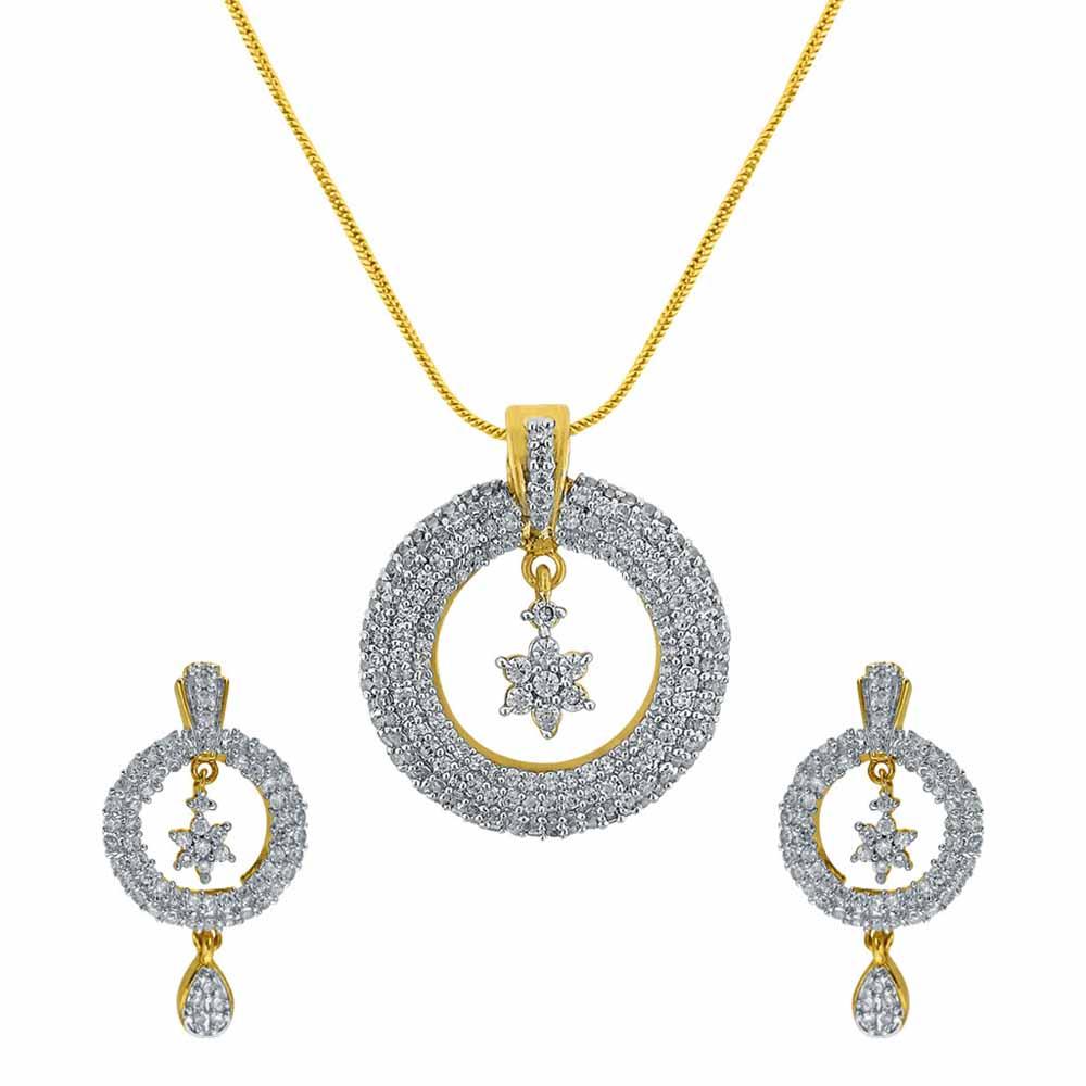 Sri Jagdamba Pearls Sitara Pendant Set