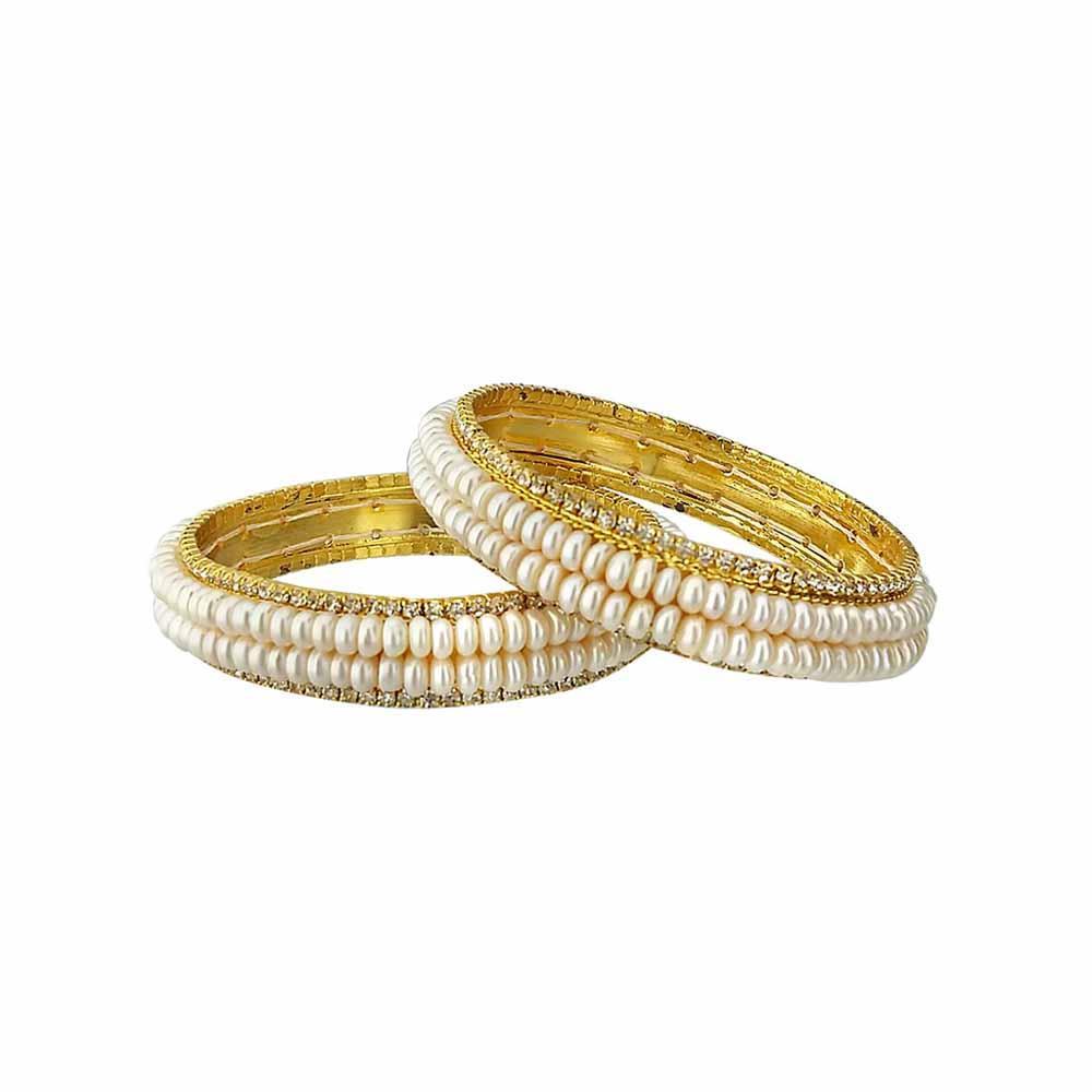 Sri Jagdamba Pearls Adorable Pearl Bangles