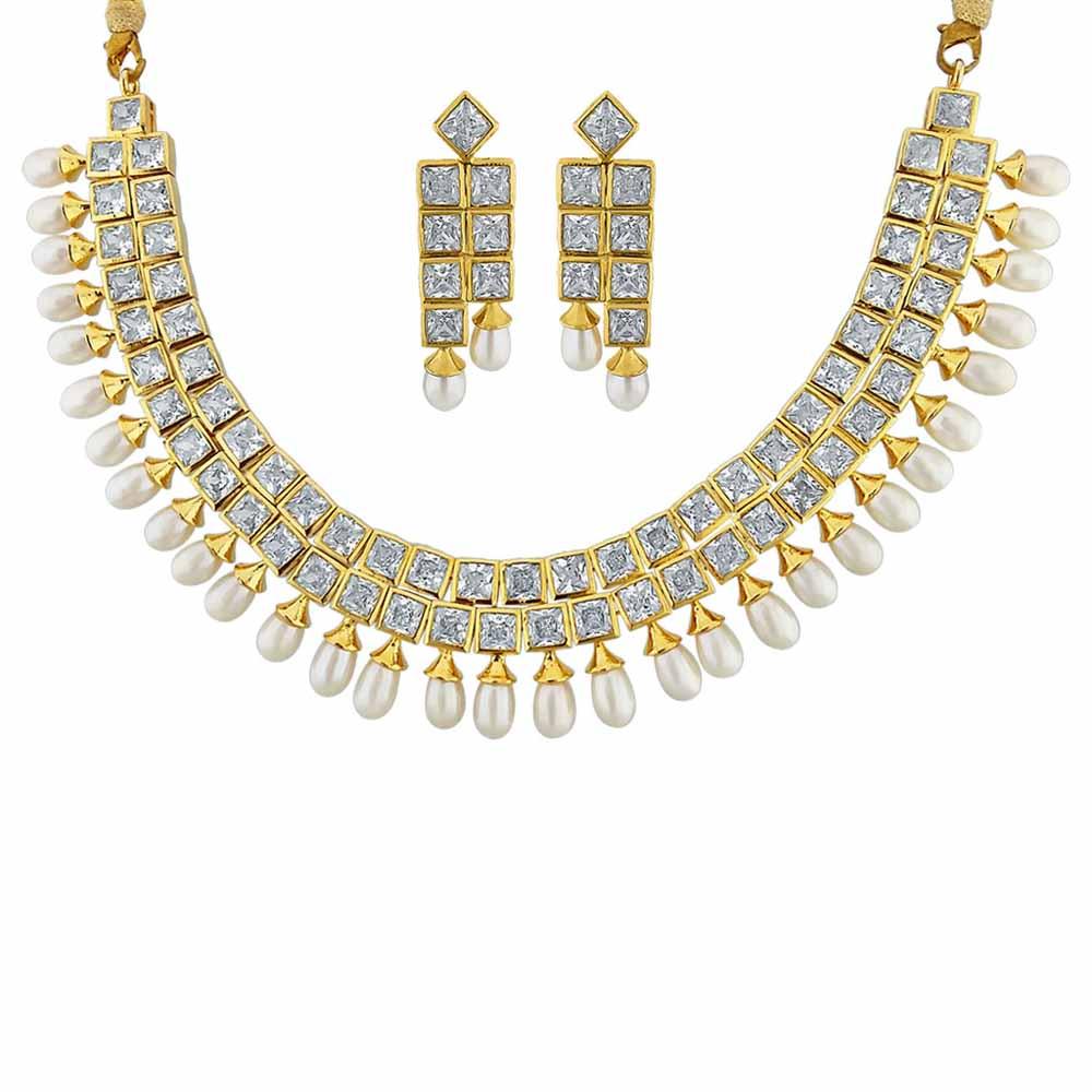 Sri Jagdamba Pearls Traditional Necklace Set