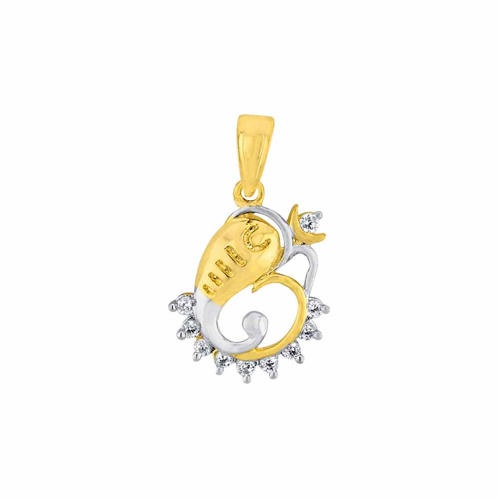 Diamond Pendants-Sri Jagdamba Pearls Om Vinayaka Diamond Pendant