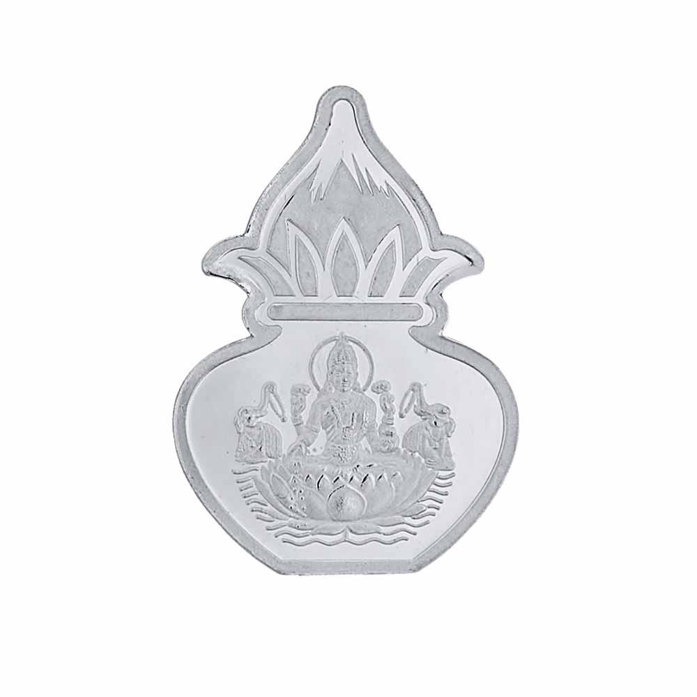 5 grams 99.9% Laxmi Kalash silver coin