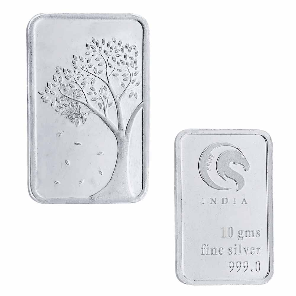 10 grams 99.9% silver Bar coin