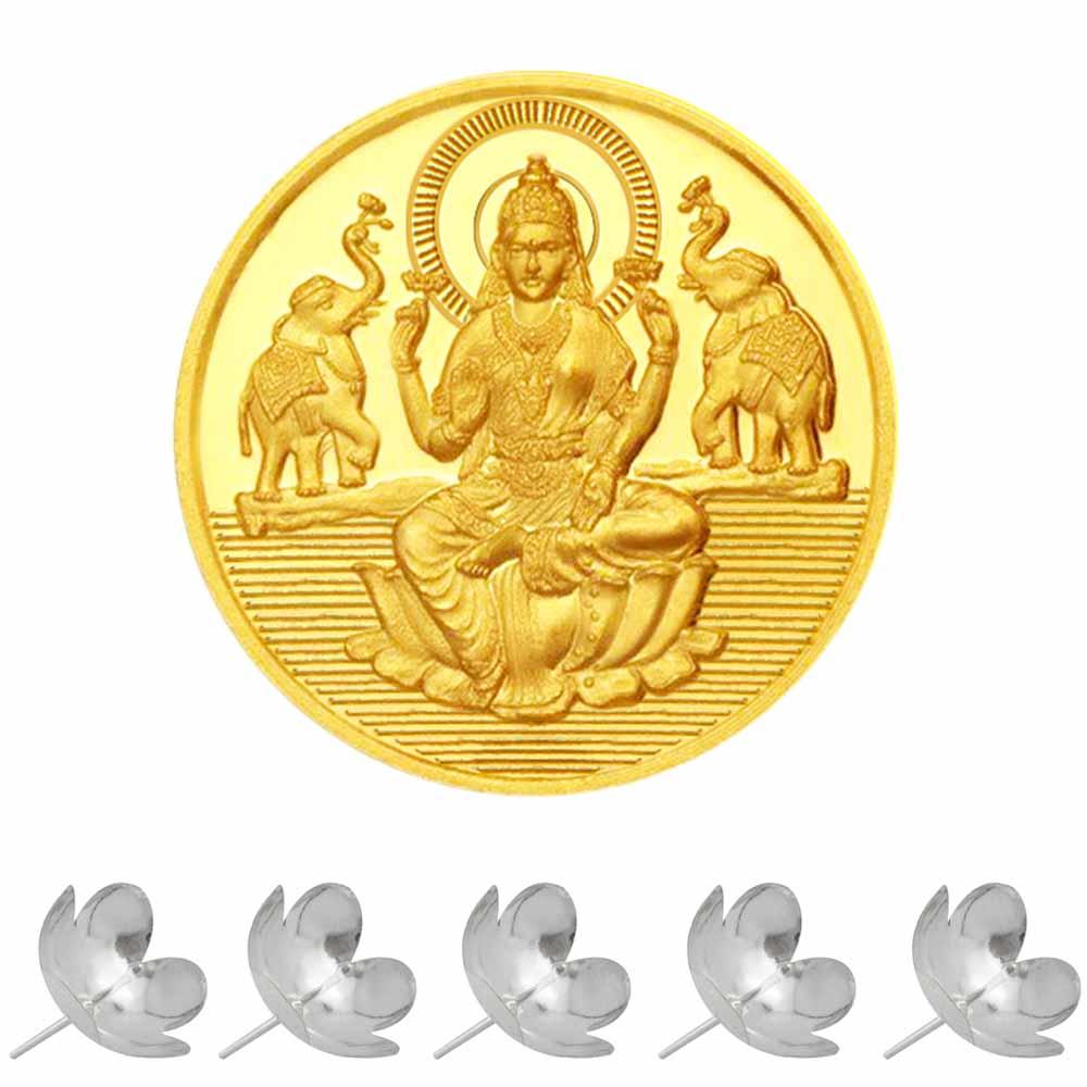 24KT 1 Gram Laxmi Gold Coin
