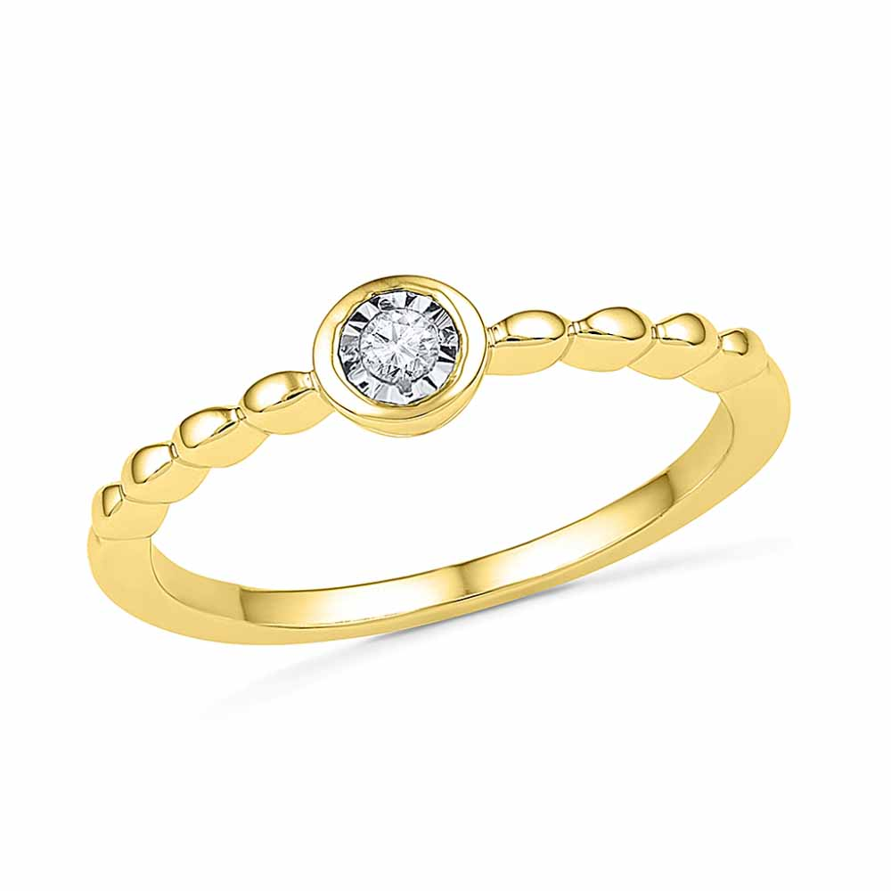 18 KT Gold Fabulous Diamond Finger Ring