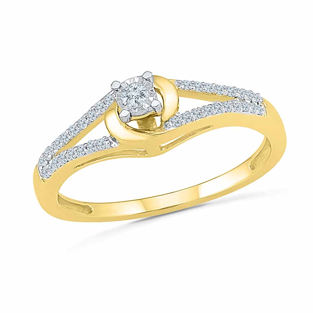 18KT Gold Amusing Diamond Ring