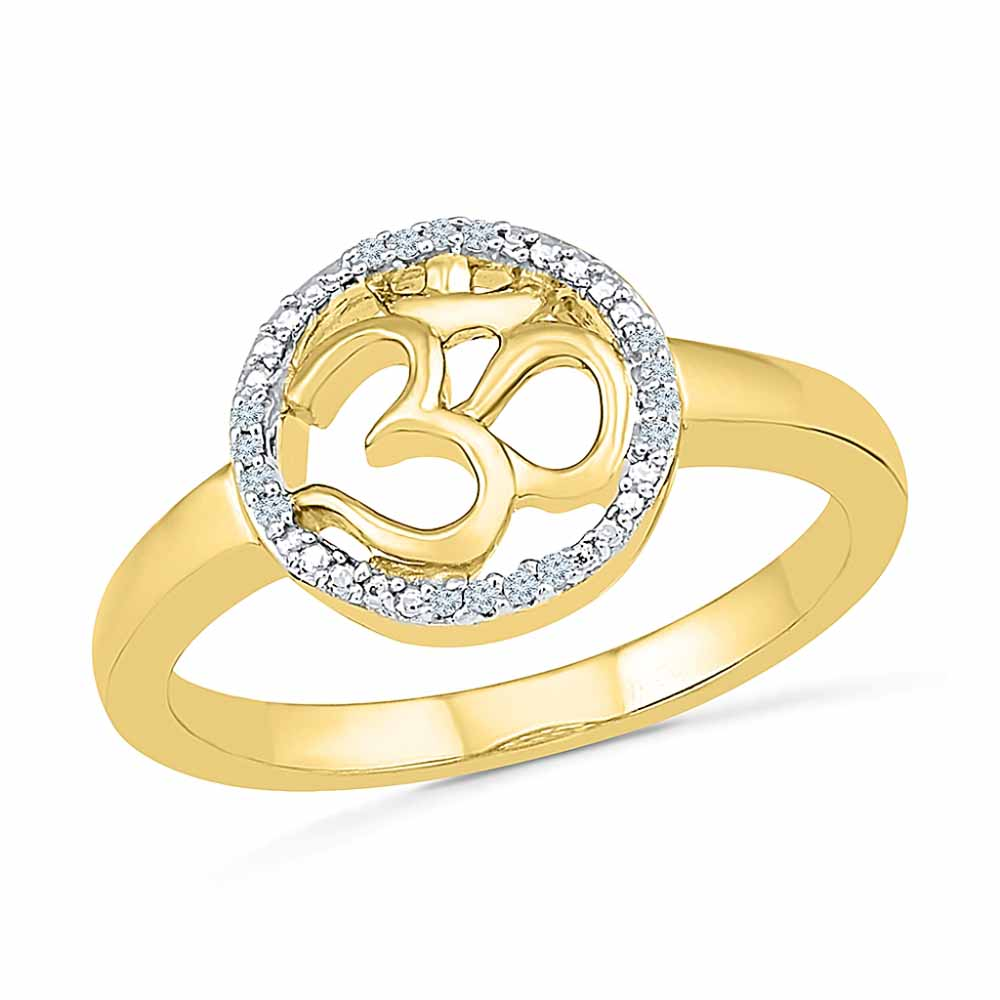Om Diamond Finger Ring