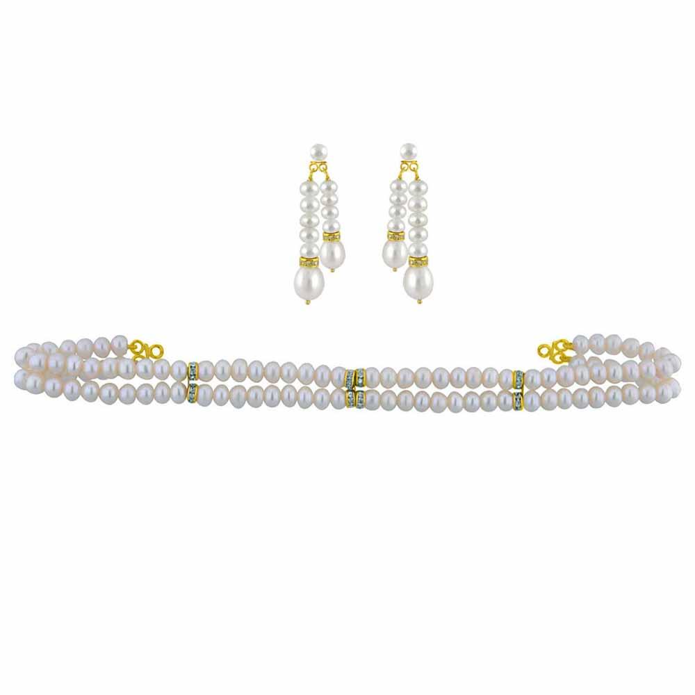 Pearl Sets-2 String Pearl Choker Set