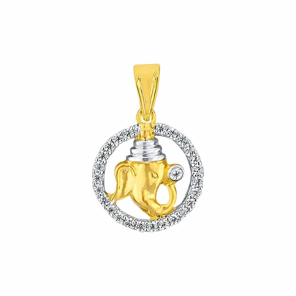 Sri Jagdamba Pearls Dharmik Diamond Pendant