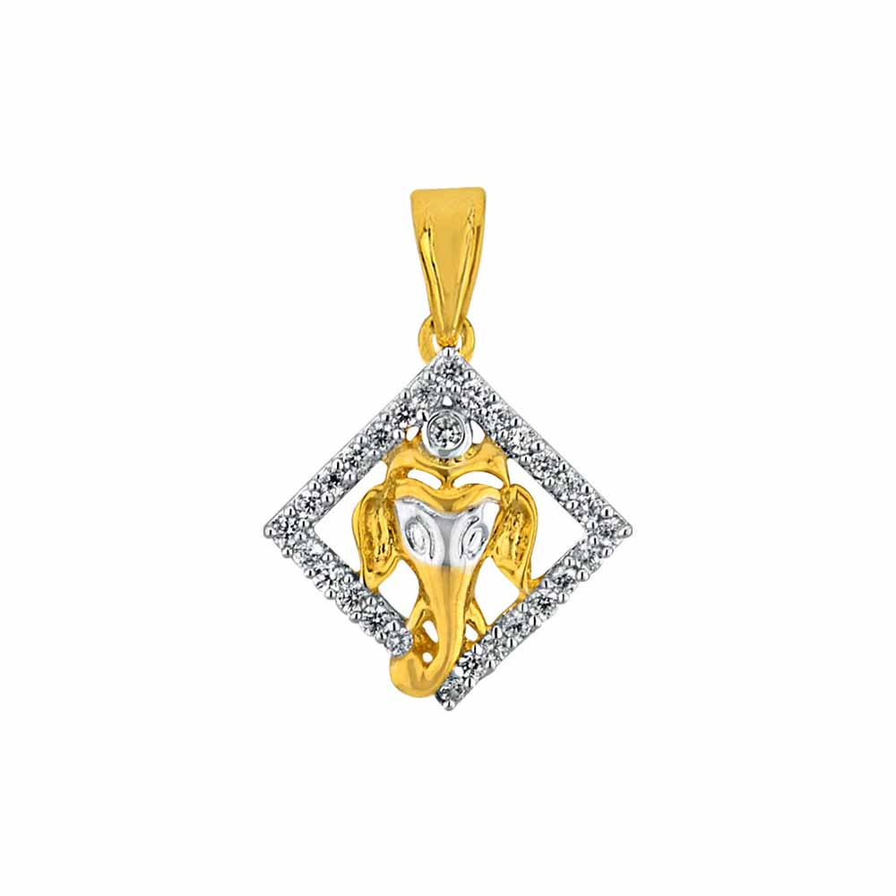 Diamond Pendants-Sri Jagdamba Pearls Vignaya Diamond Pendant