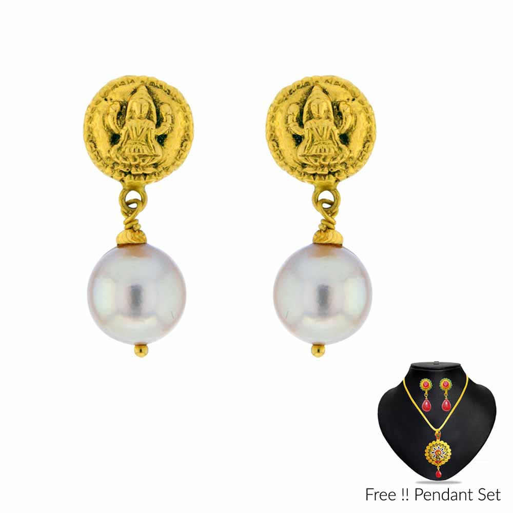 Gold Earrings-22Kt (916) Laxmi Gold Earrings