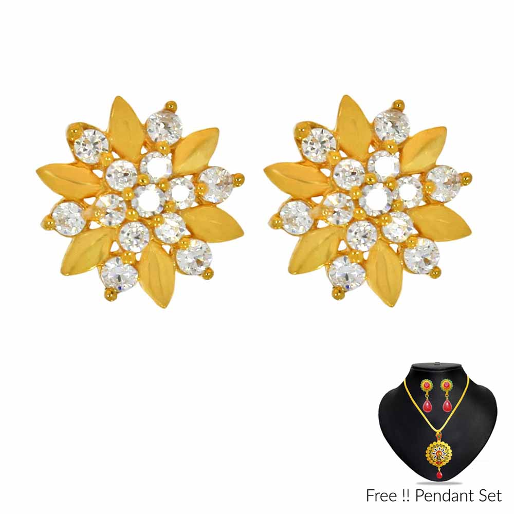 22Kt (916) Star Gold Earrings