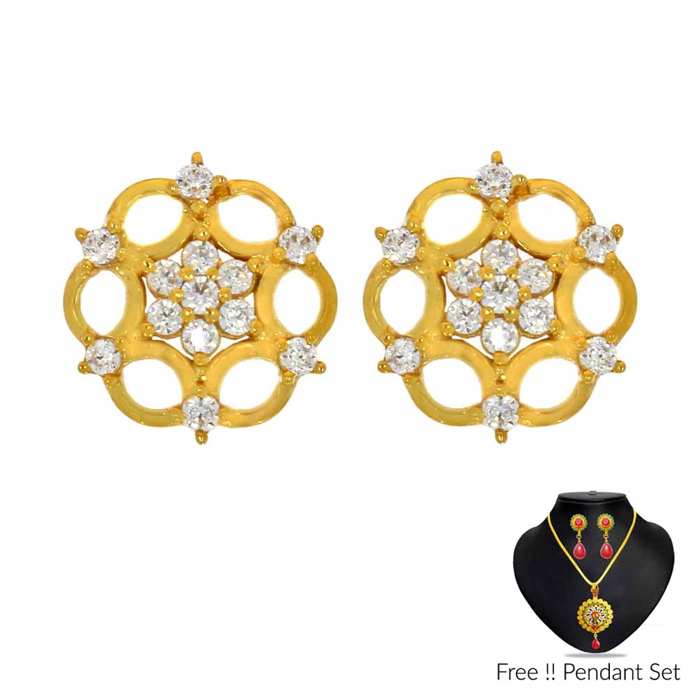 22Kt (916) Amiba Gold Earrings