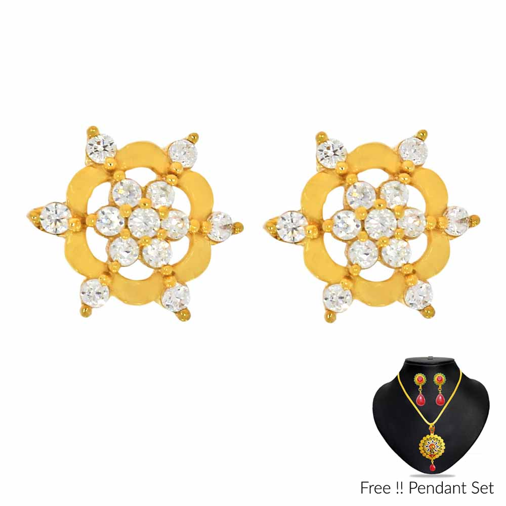 Gold Earrings-22Kt (916) Beautiful Gold Earrings