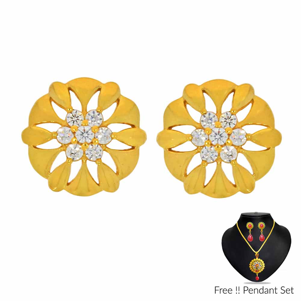 Gold Earrings-22Kt (916) Enhancing Gold Earrings