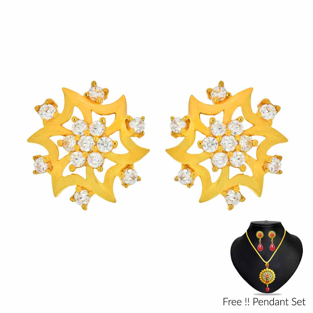 Gold Earrings-22Kt 2.64 Grams Gold Earrings