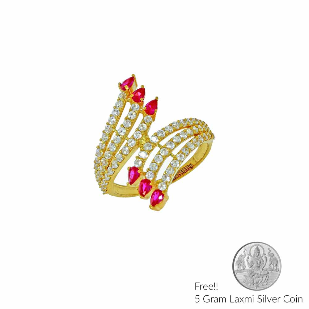 Gold-22Kt Angelic Gold Finger Ring