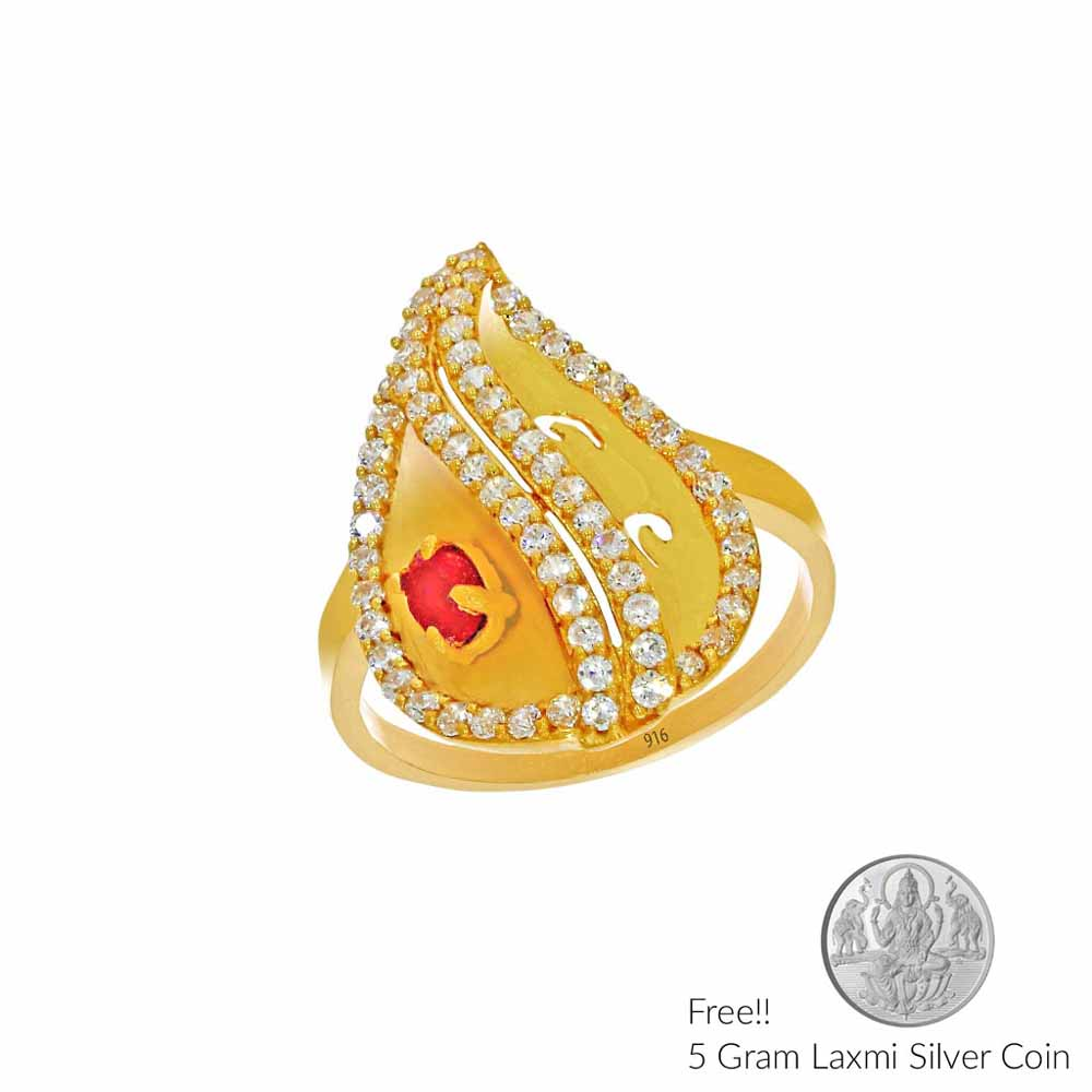 Glory Lily Gold Finger Ring
