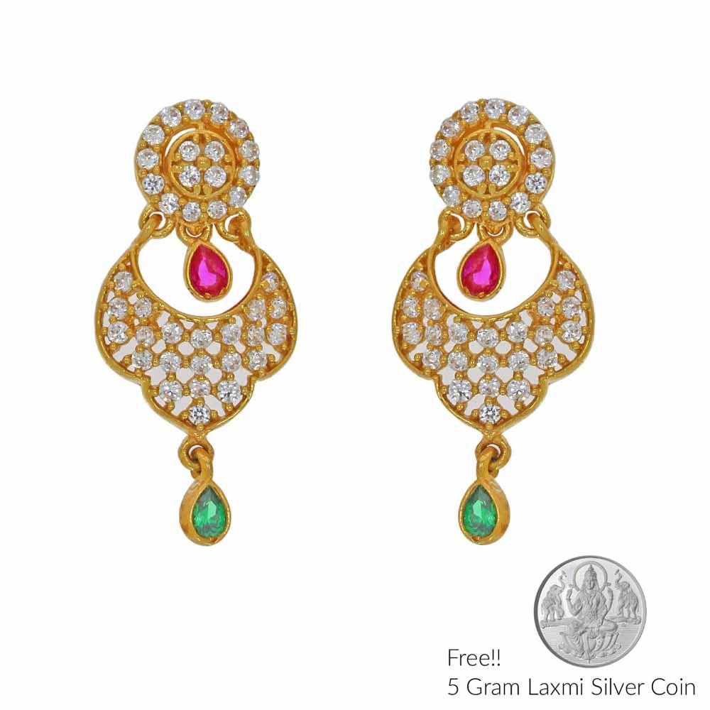 Gold Earrings-Memorable 22Kt Gold Earings