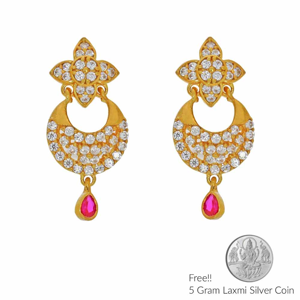 Princess 22Kt Gold Earrings