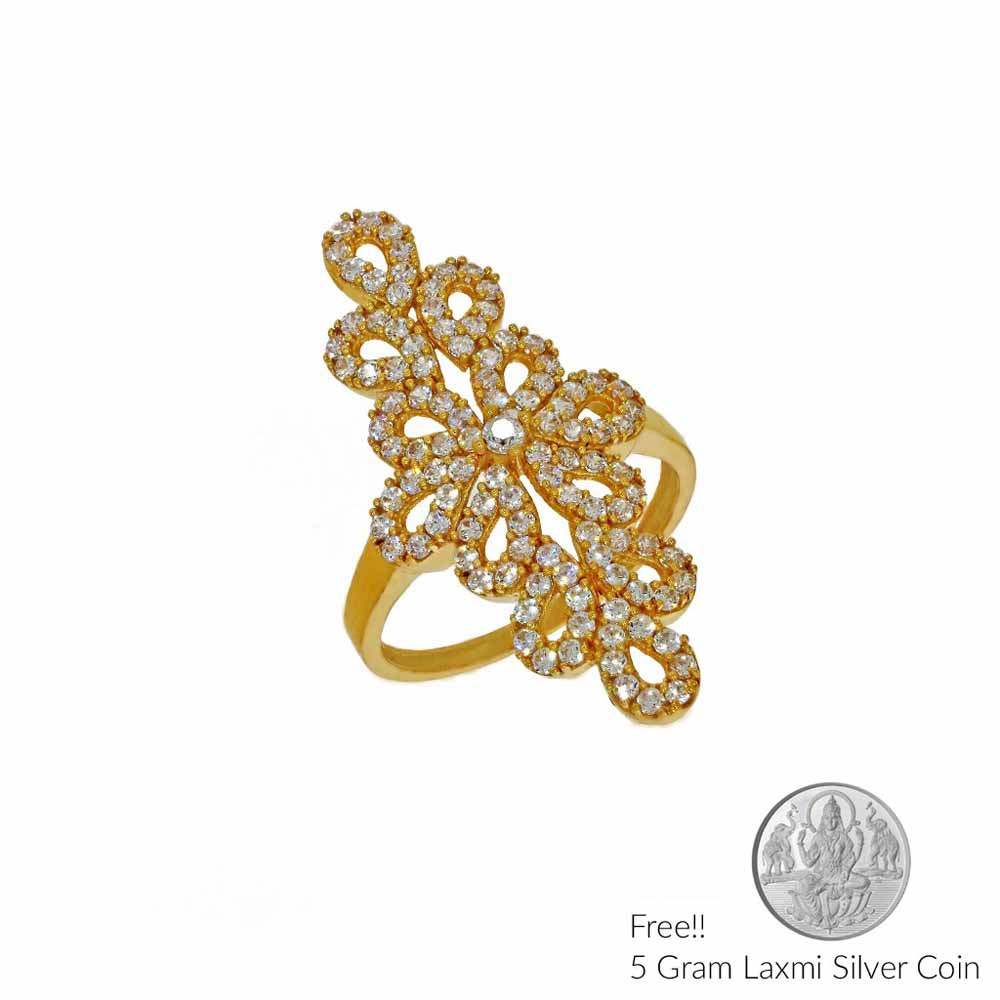 22Kt Princess Gold Finger Ring