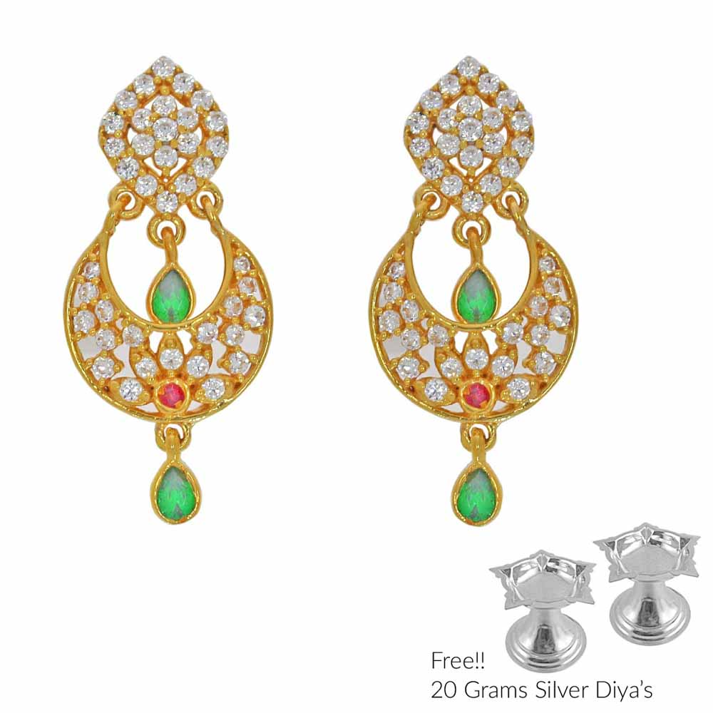 Gold Earrings-Awefull 22Kt Gold Earrings