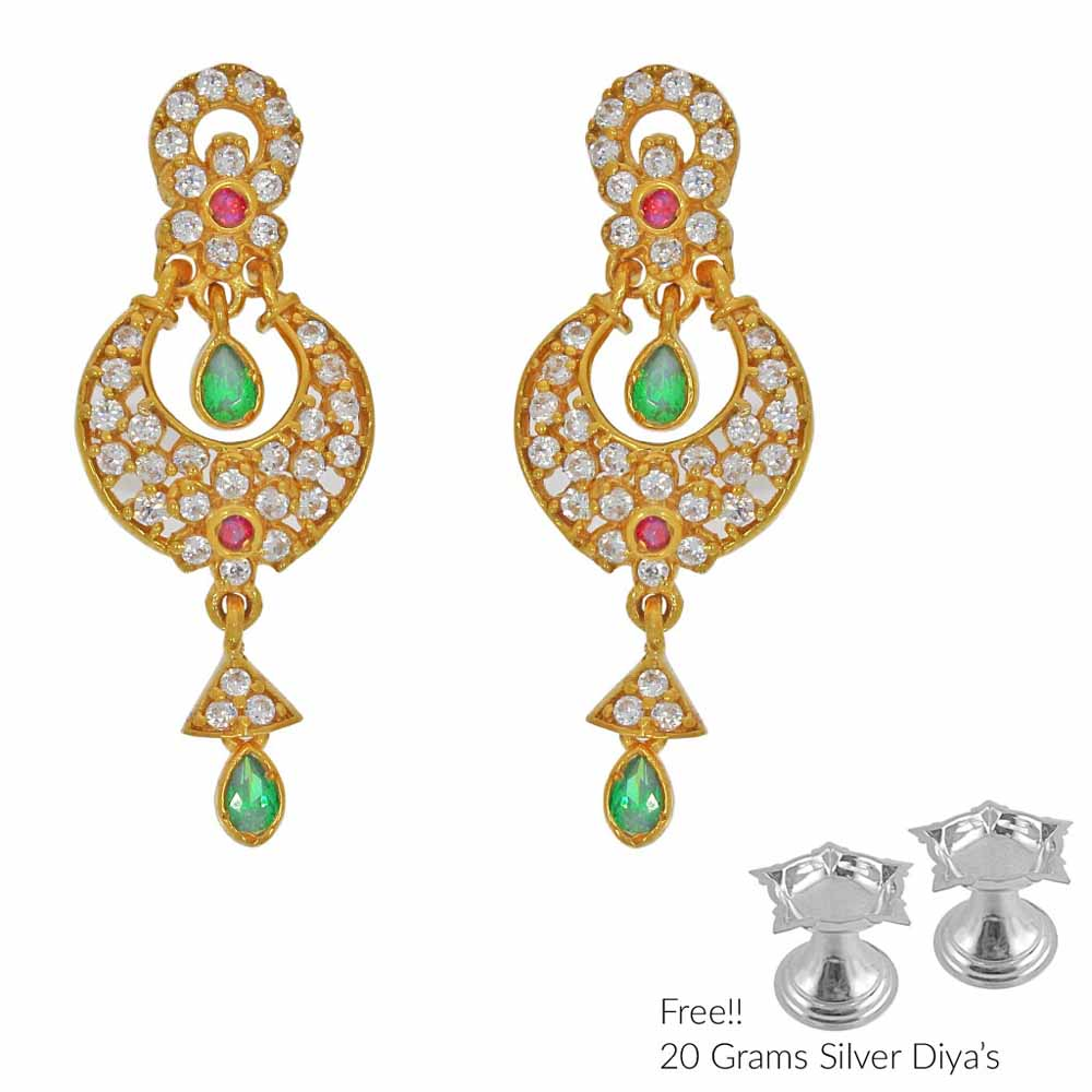Gold Earrings-Grandiose 22Kt Gold Earrings