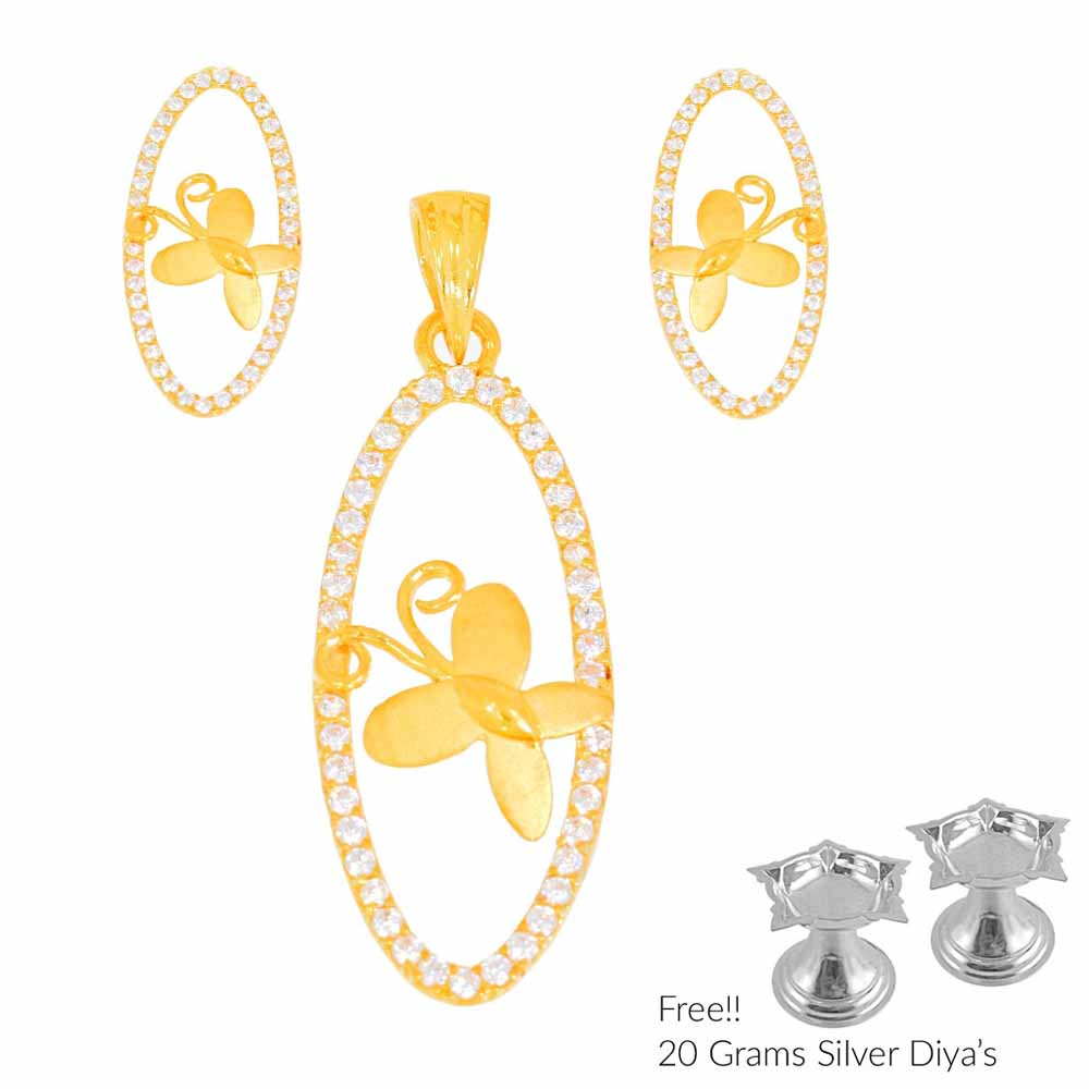 Verduous 22Kt Gold Pendant Set