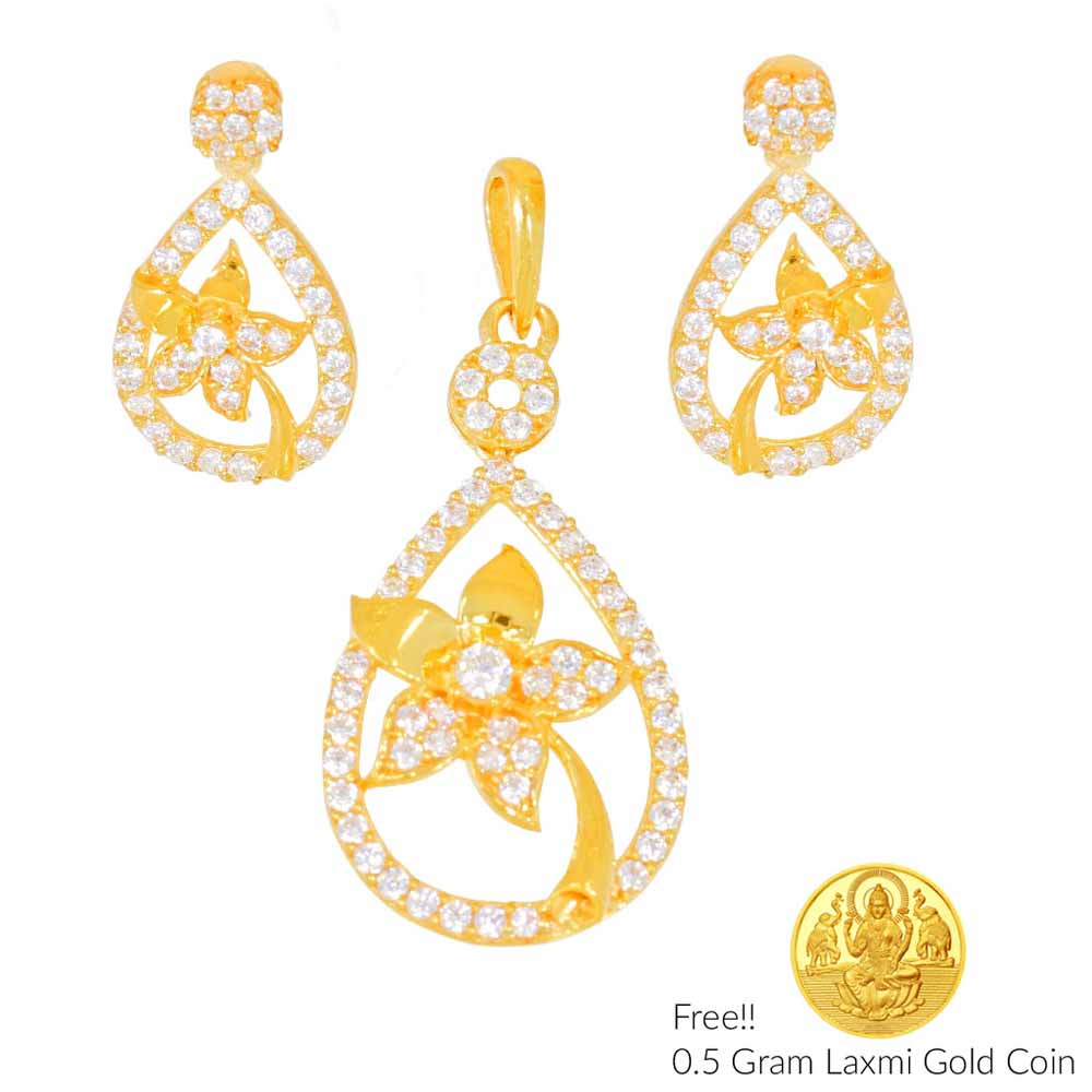 Newly Wed 22Kt Gold Pendant Set