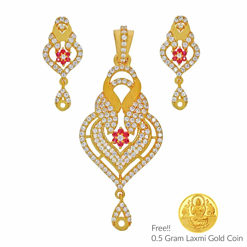 Autumn 22Kt Gold Pendant Set