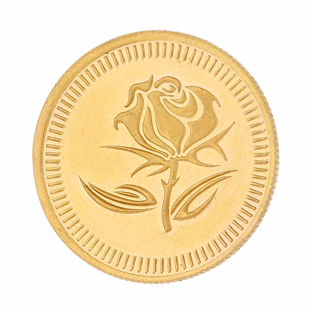 24Kt Flower Gold Coin